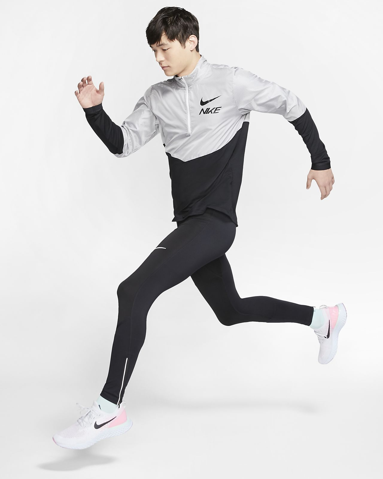 Maglia da running con zip a metà lunghezza Nike Uomo. Nike CH