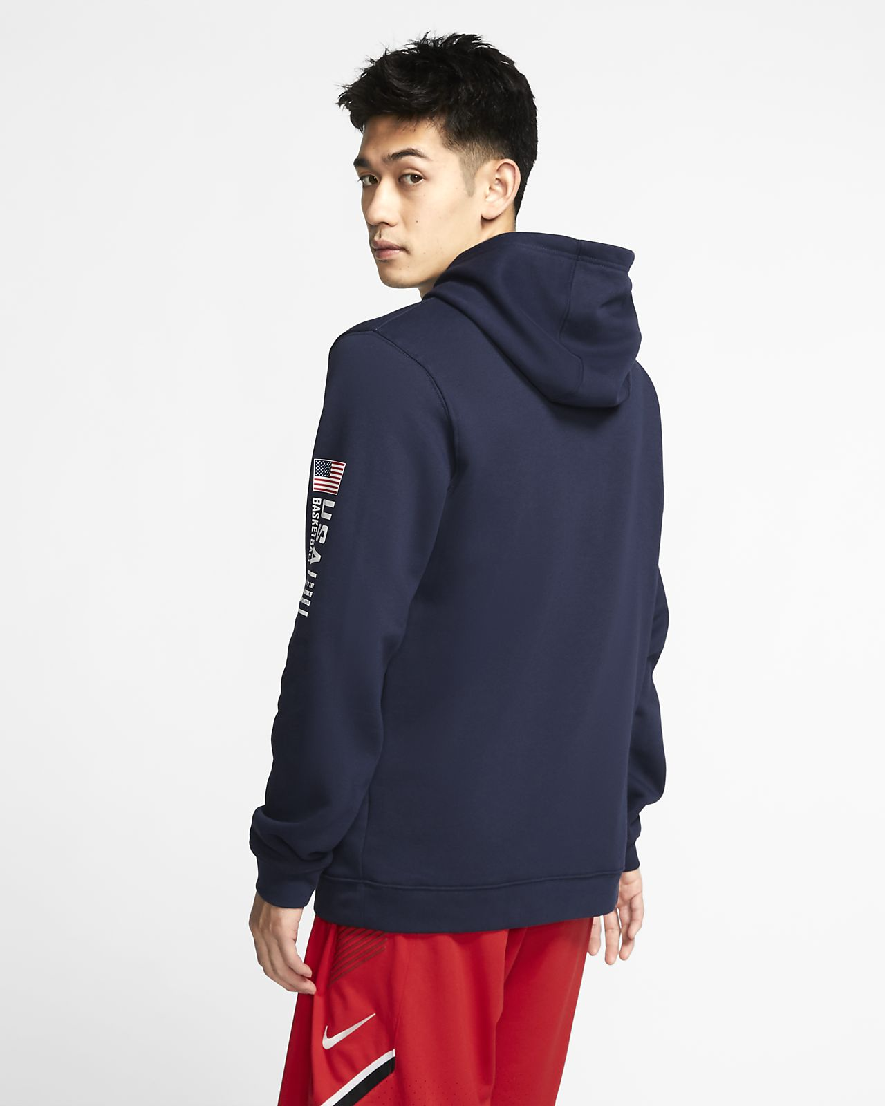 Pull de basketball USA Nike Club Fleece pour Homme
