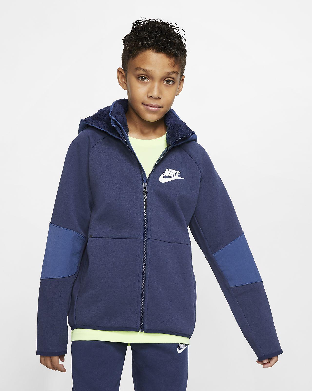 Nike Sportswear Winterized Tech Fleece Older Kids' Full Zip Hoodie