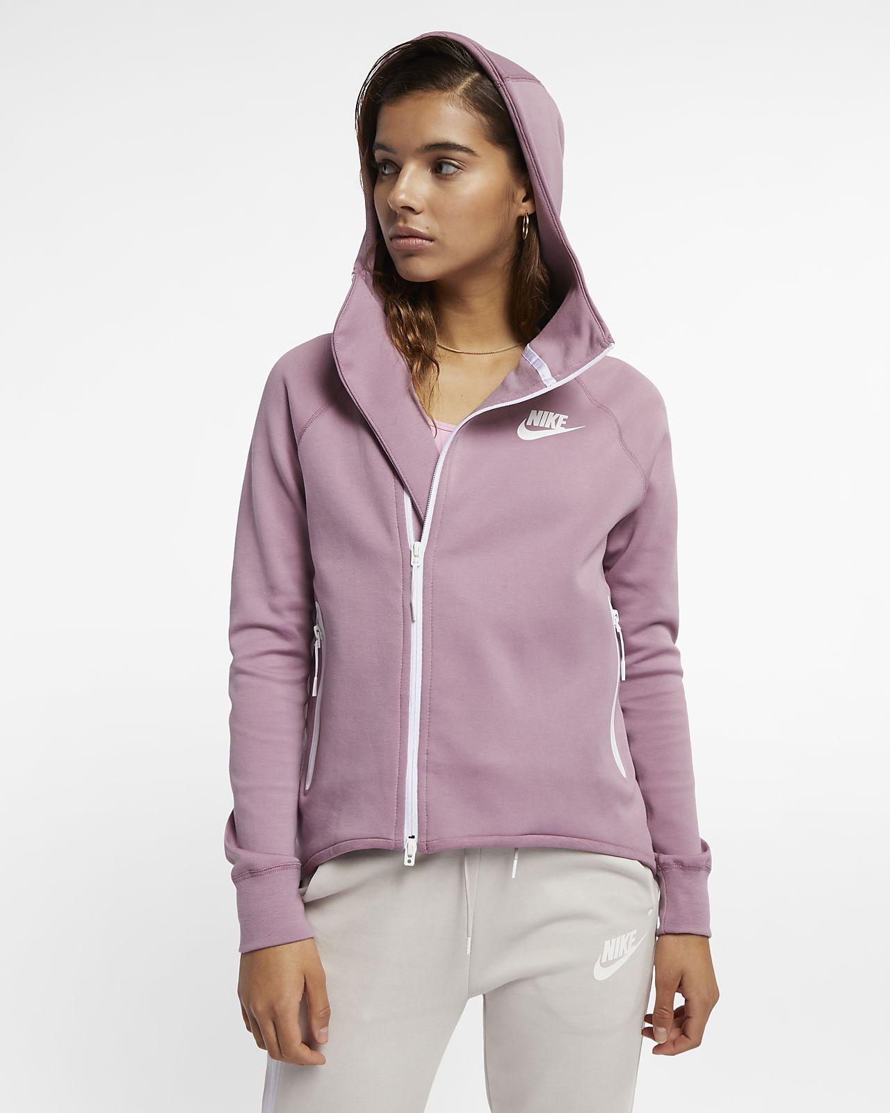 Nike Sportswear Tech Fleece Tam Boy Fermuarlı Kadın Pelerini