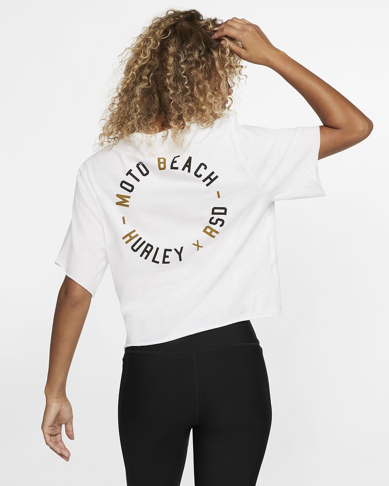 Hurley x Roland Sands Moto Beach Samarreta de coll rodó de disseny curt i màniga curta - Dona