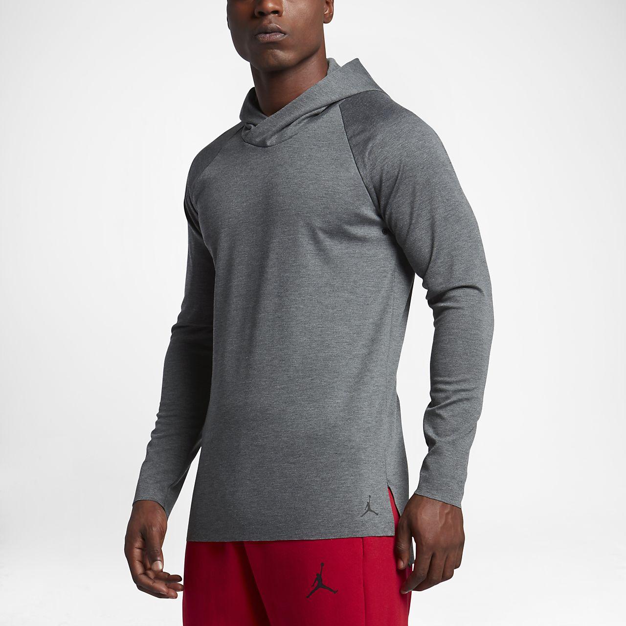 Jordan 23 Lux Raglan Men's Short Sleeve Top Charcoal Heather/Black