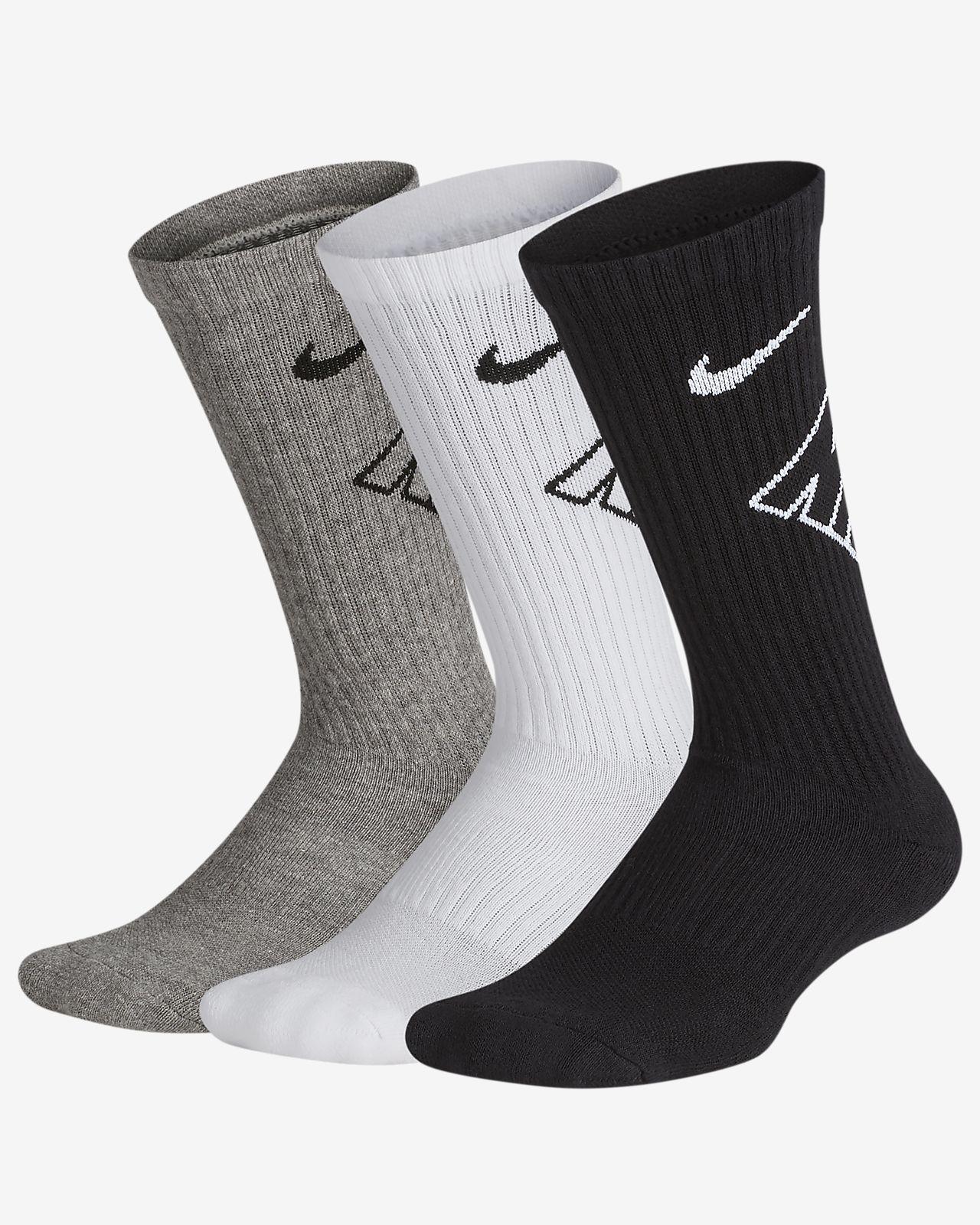 ce9a46e5c Nike Performance Cushioned Crew Kids' Training Socks (3 Pair). Nike.com