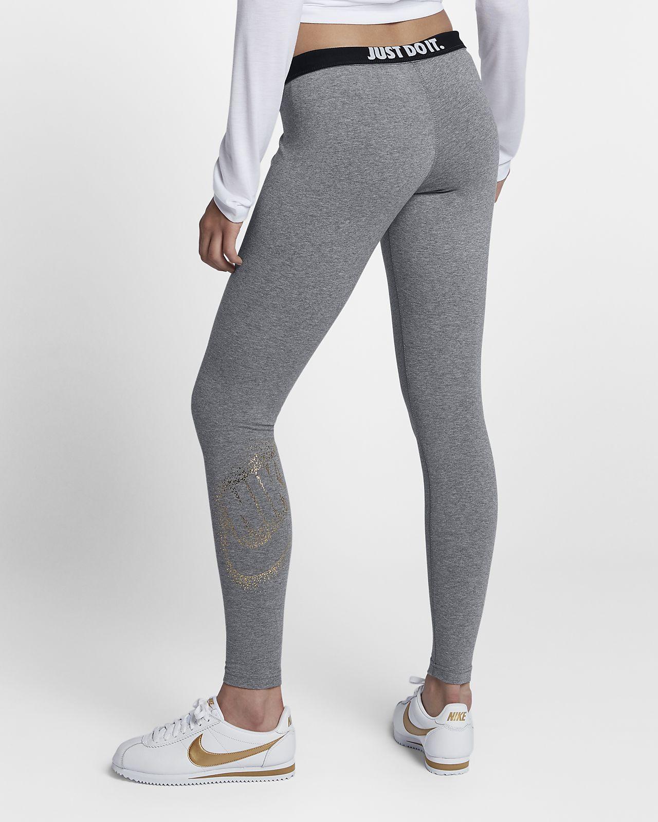 nike sportswear women 39 s metallic leggings ma. Black Bedroom Furniture Sets. Home Design Ideas