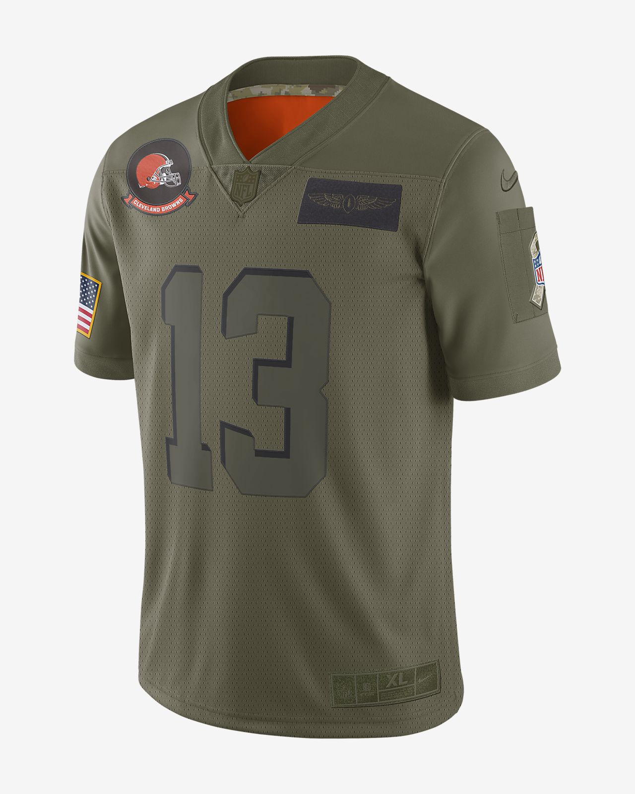 NFL Cleveland Browns Limited Salute To Service (Odell Beckham Jr.) Men's Football Jersey