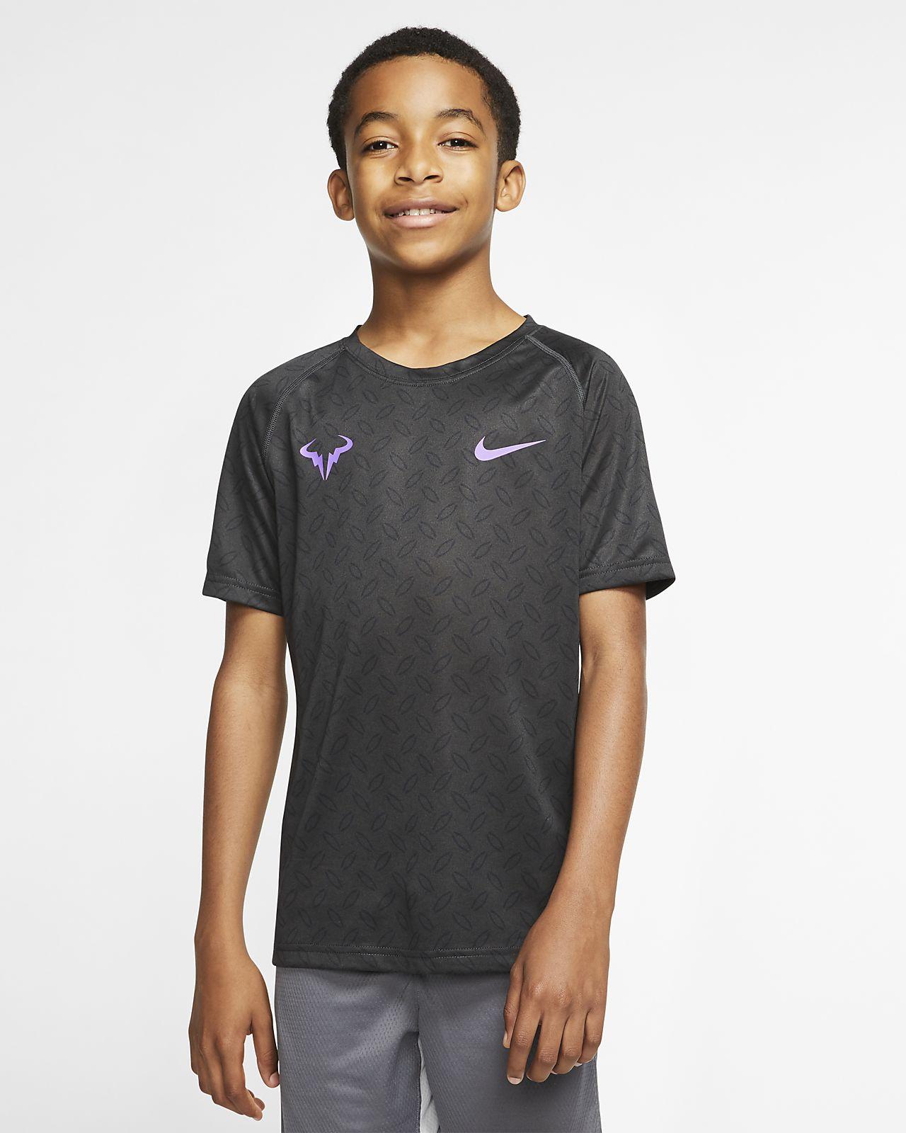 NikeCourt Dri-FIT Rafa Samarreta estampada de tennis - Nen