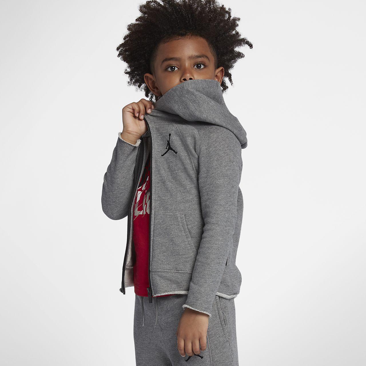 Mikina s kapucí a dlouhým zipem Jordan Sportswear Wings pro malé děti (chlapce)