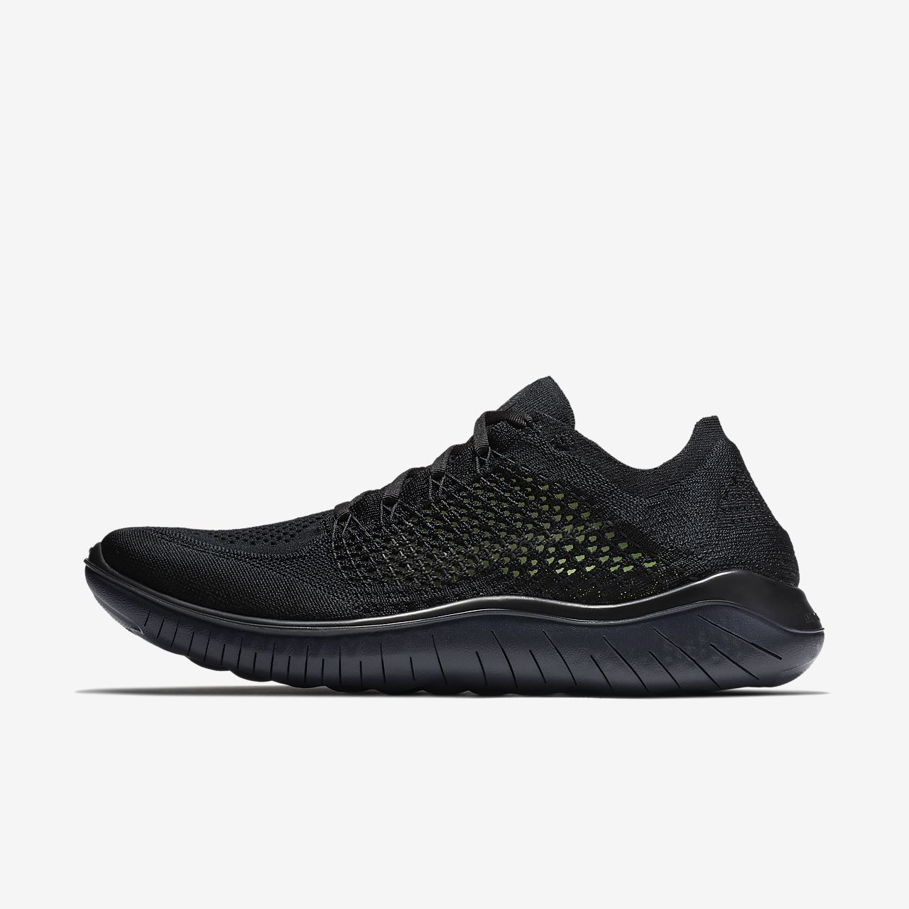 Nike Performance FREE RN FLYKNIT 2018 - Trainers - black/white IjjibVi