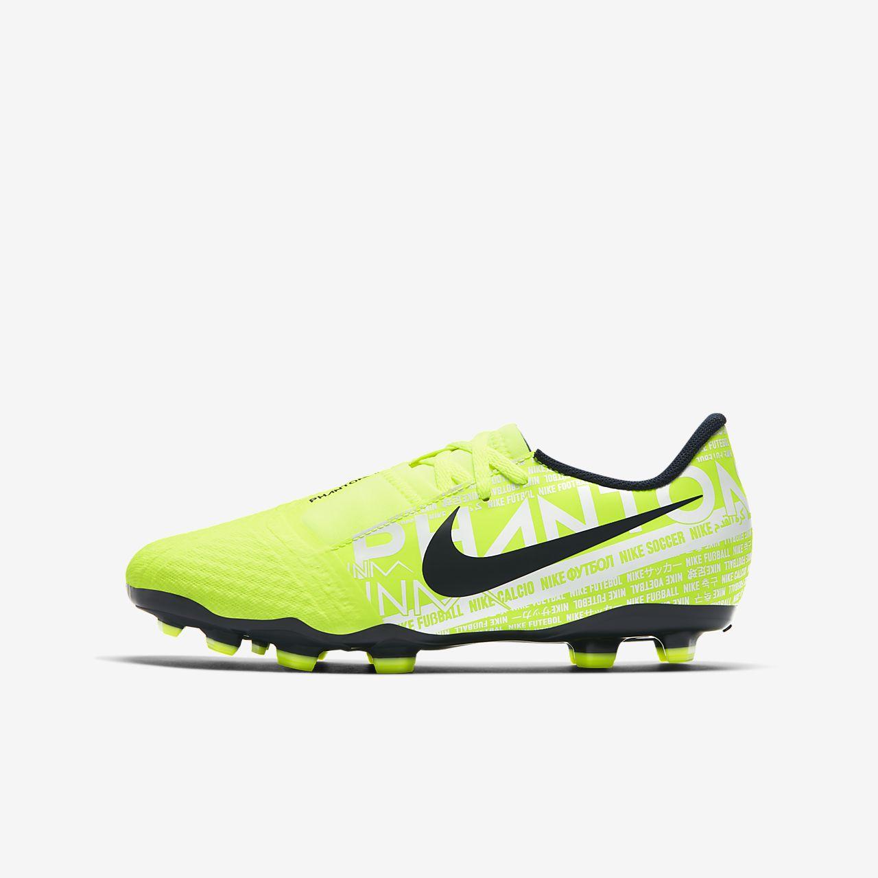 Nike Jr. Phantom Venom Academy FG-fodboldstøvle til græs til store børn