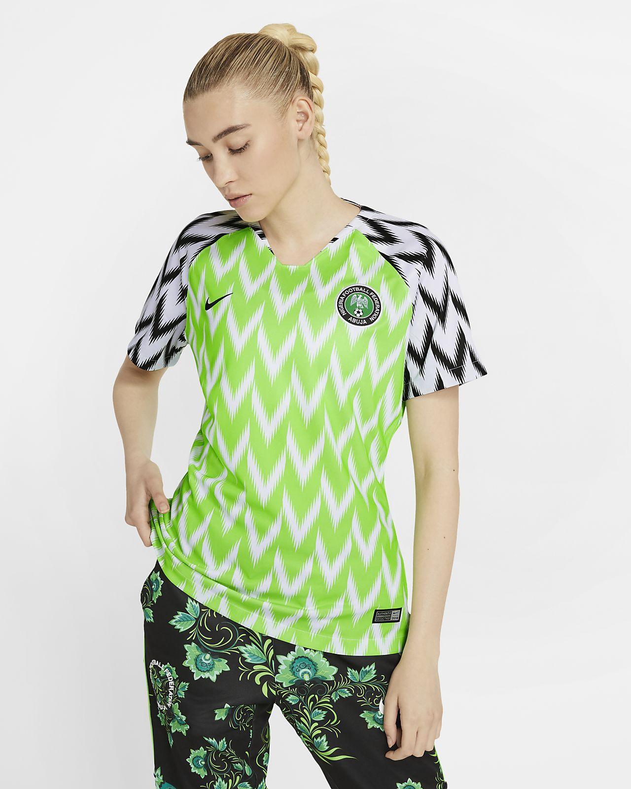 Camiseta de fútbol para mujer Nigeria 2019 Stadium Home