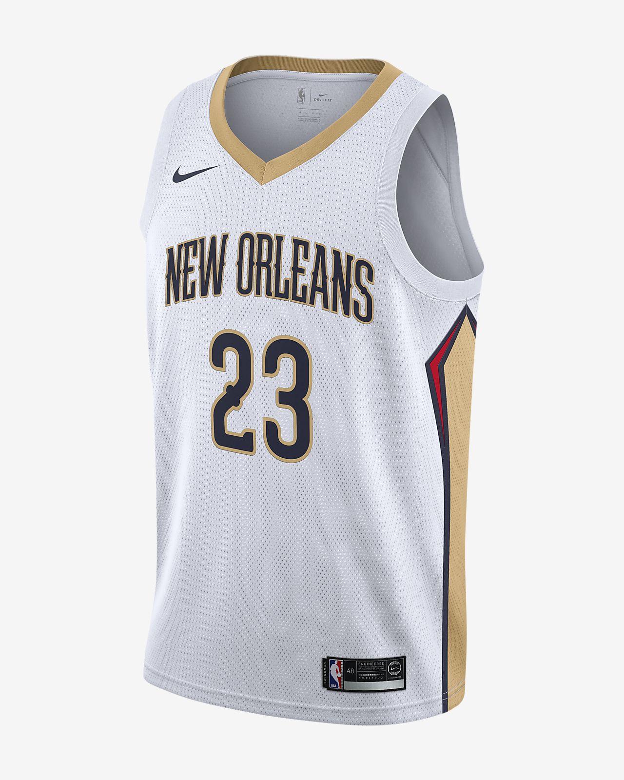 新奥尔良鹈鹕队 (Anthony Davis) Association Edition Swingman Nike NBA Connected Jersey 男子球衣