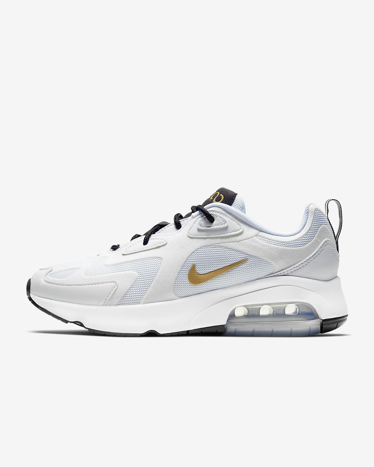 Nike WMNS Air Max 200 Damen Sneaker weiß gold AT6175 102