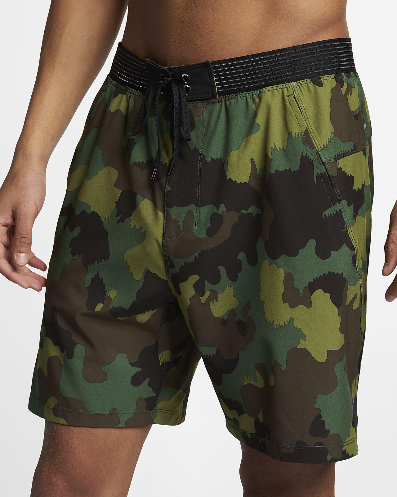Shorts de camuflaje de 46 cm para hombre Hurley Phantom Alpha Trainer