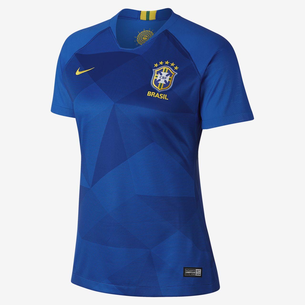 Nike Brazil Breathe Stadium Jersey - Women's Soccer - Soar/Midwest Gold