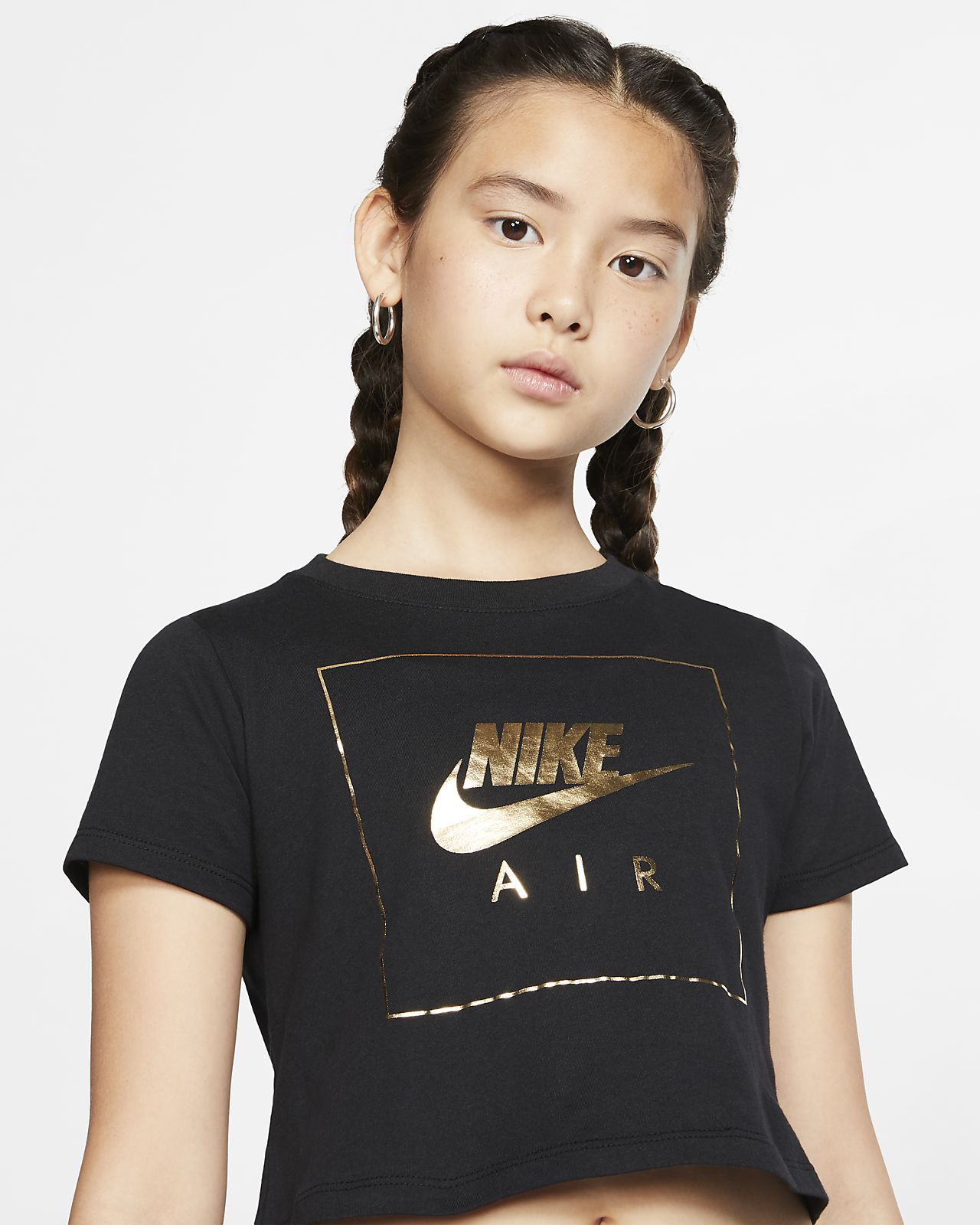 Air Big Kids' (Girls') Crop Top in 2019 | Nike shirts for