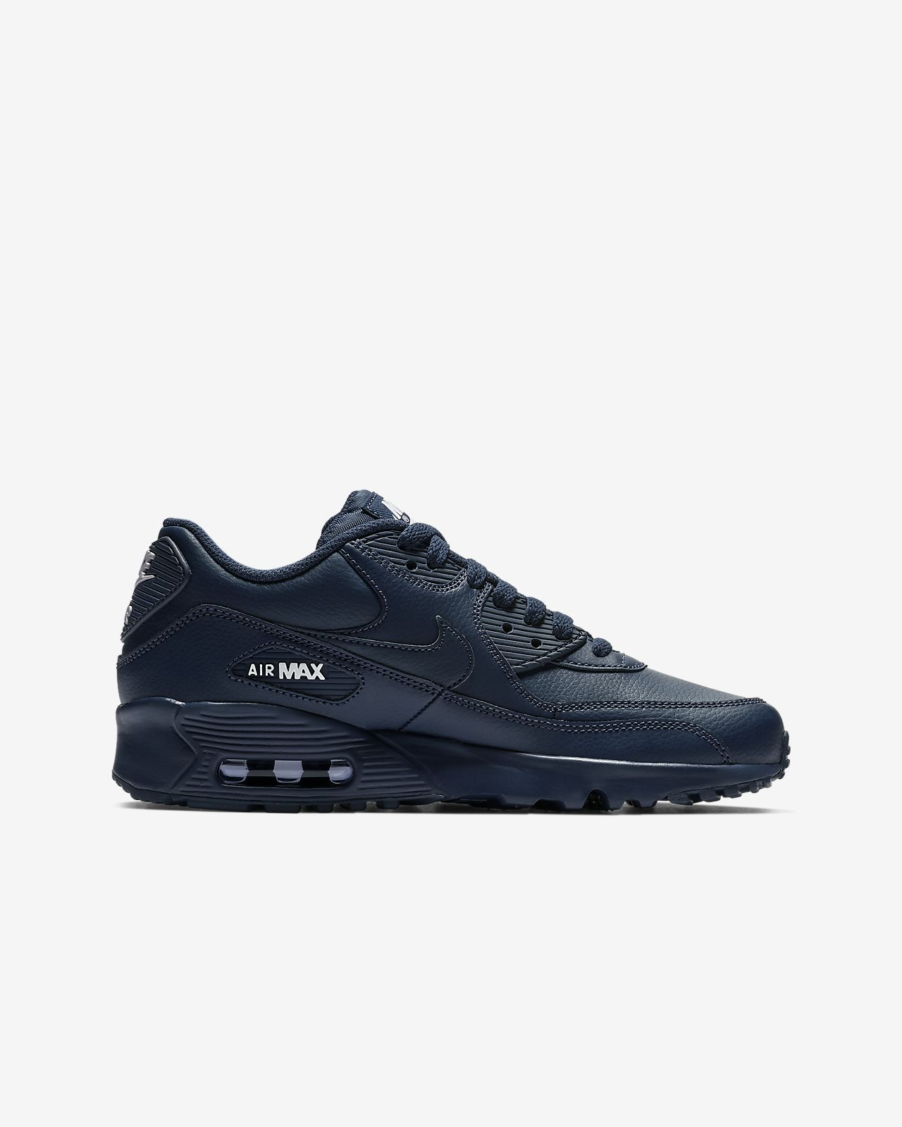 506d2bebb6 Nike Air Max 90 Leather Big Kids' Shoe. Nike.com