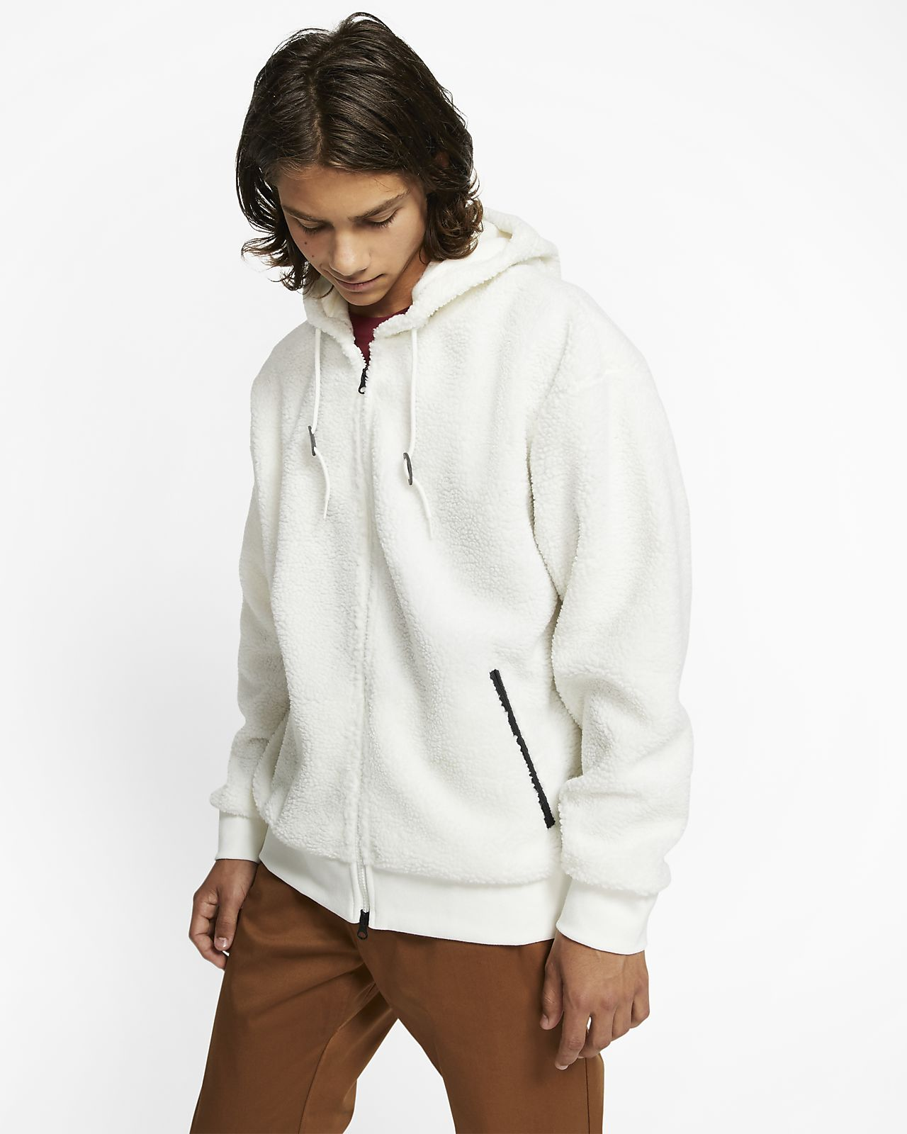 Hoodie de skateboard de sherpa Nike SB para homem