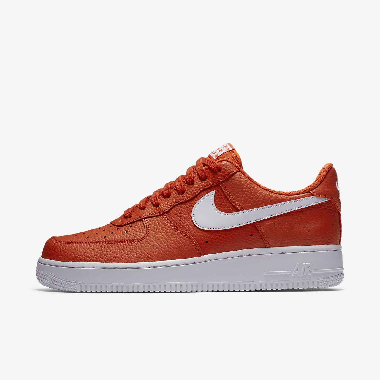 brand new 02207 daad3 official store mennns nike air force 1 oransje rød 86c5a 5461c