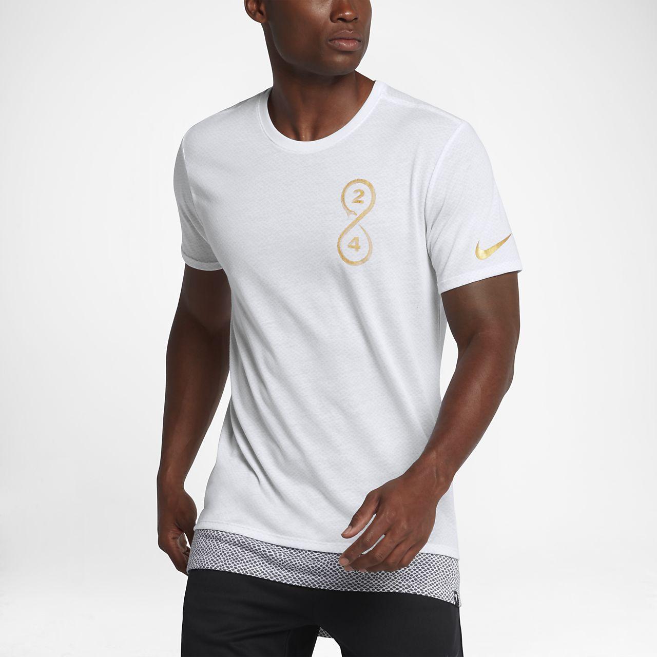 3bb364ab28d2 detail 2 view of mens nike droptail swoosh t shirt in white