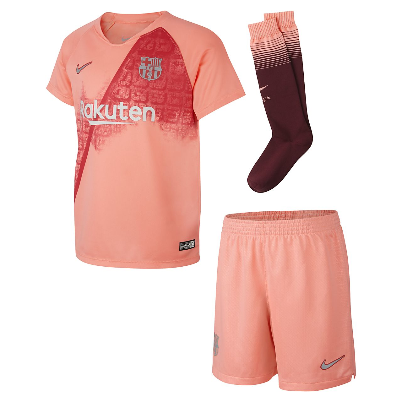 Kit de fútbol para niños talla pequeña alternativa Stadium del FC Barcelona 2018/19