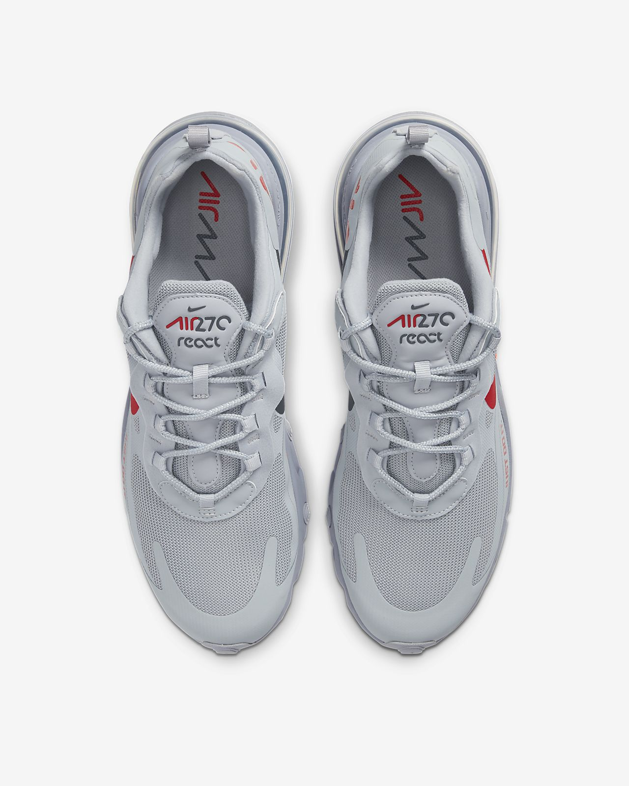 Nike Air Max 270 React wolf greyuniversity redanthracite