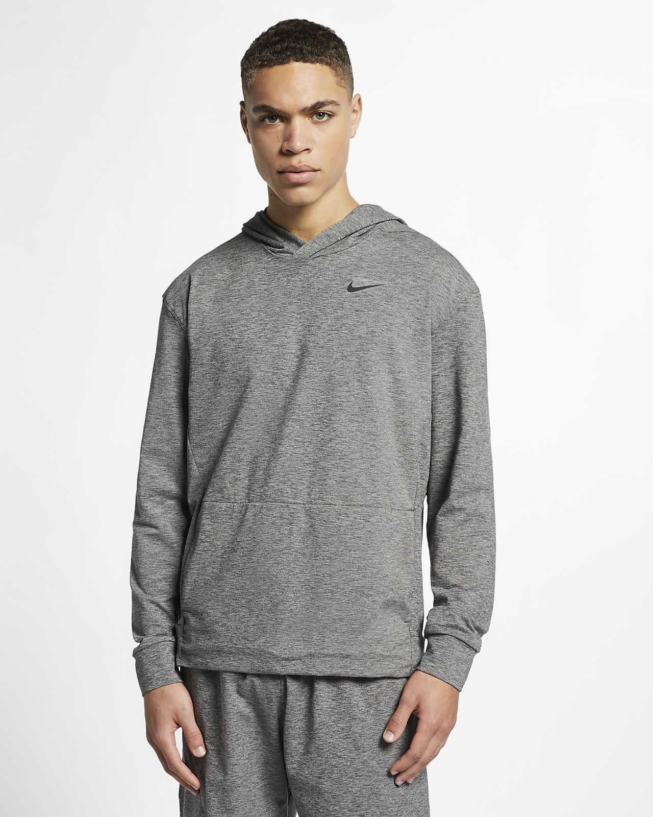 Nike Dri-FIT Men's Pullover Long-Sleeve Yoga Training Hoodie
