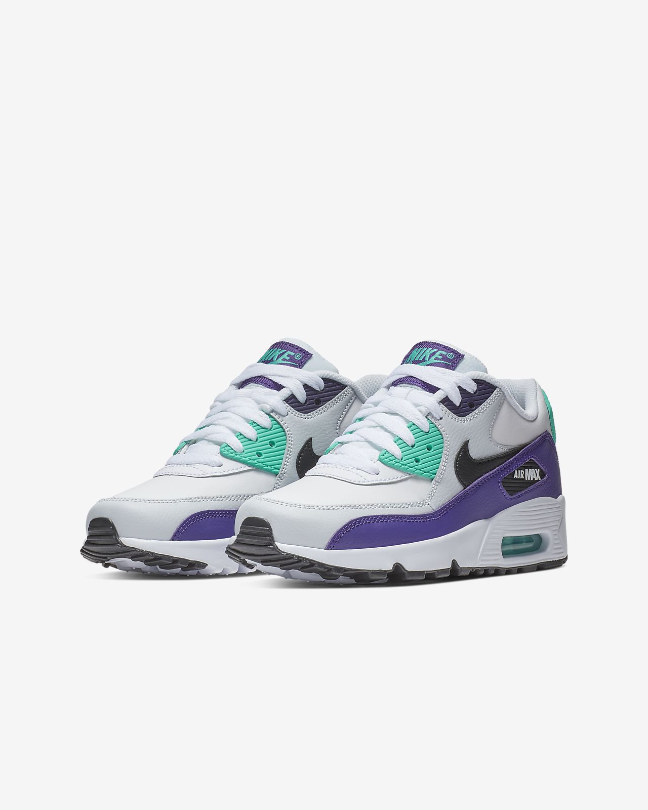 reputable site afeeb d6d65 ... Nike Air Max 90 Leather Older Kids  Shoe