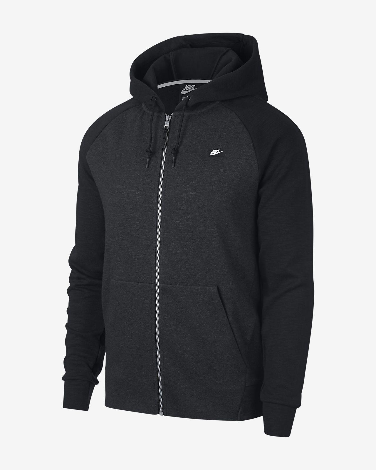 Pánská mikina s kapucí a dlouhým zipem Nike Sportswear Optic