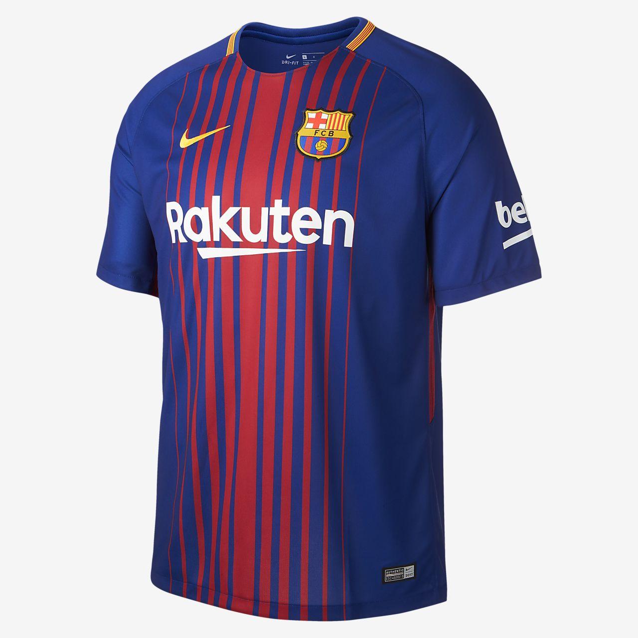 ... 2017/18 FC Barcelona Stadium Home Men's Soccer Jersey