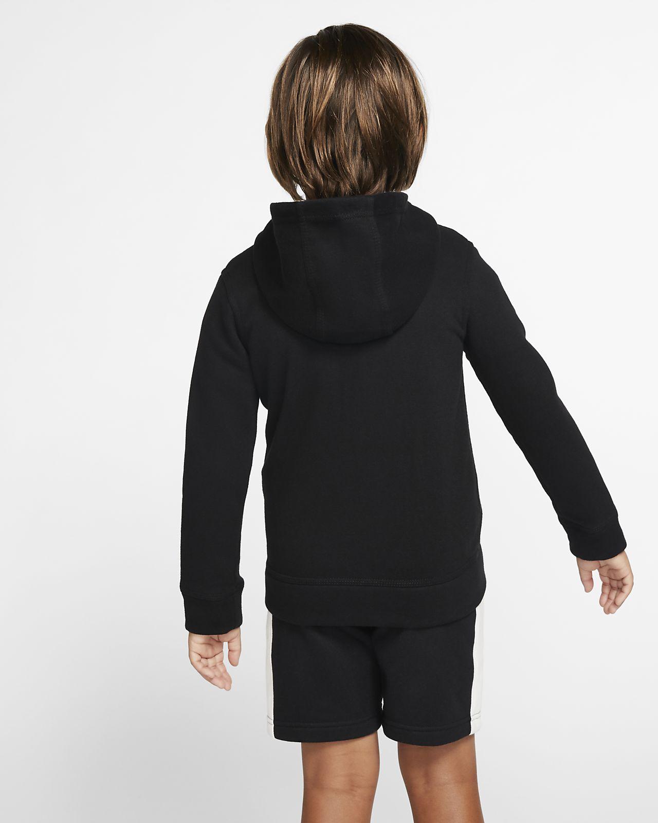 Bluza z kapturem i zamkiem na całej długości dla małych dzieci Nike Sportswear Club Fleece