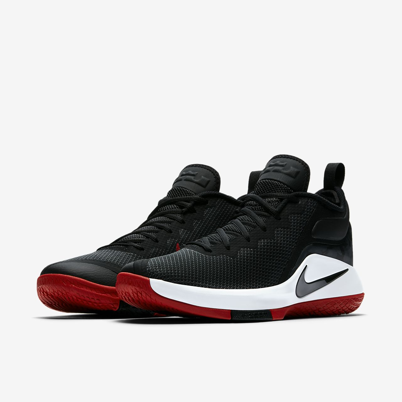sports shoes 13bc4 48e9e ... coupon chaussure de basketball nike zoom lebron witness 2 noir et rouge pour  homme pointure 45