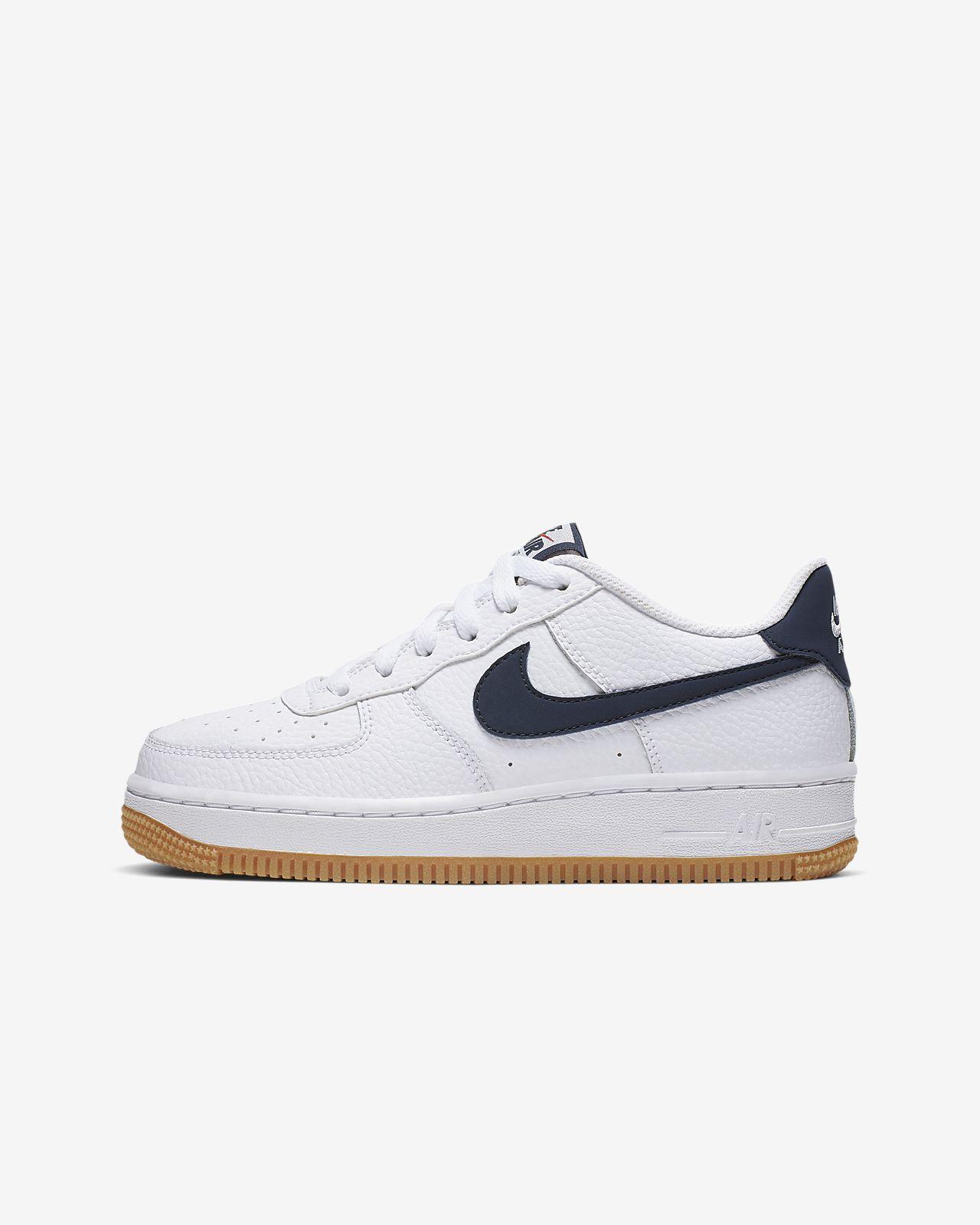 Kinder nike Weiß Air Force 1 Schuhe
