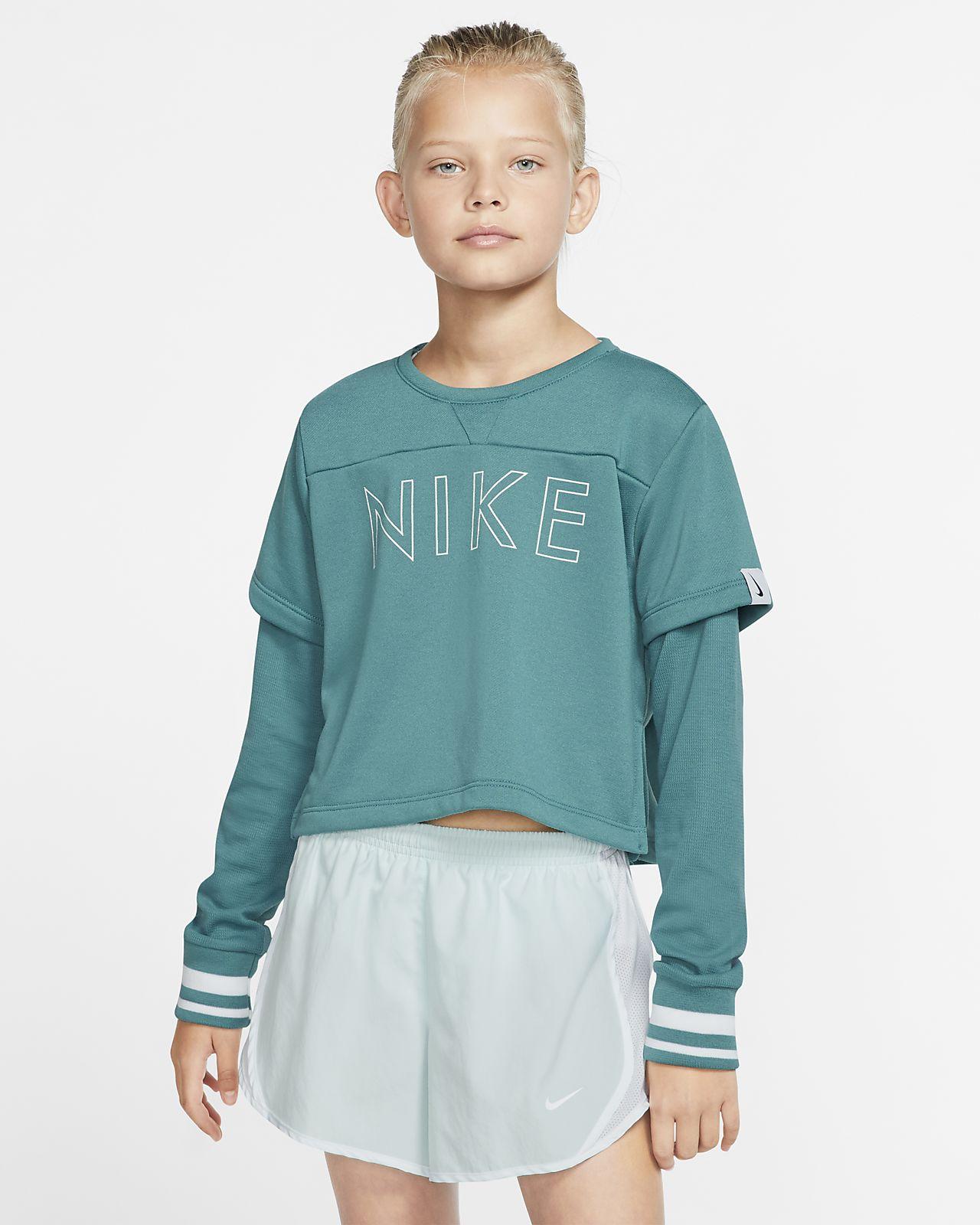 Nike Studio Big Kids' (Girls') Long-Sleeve Training Top