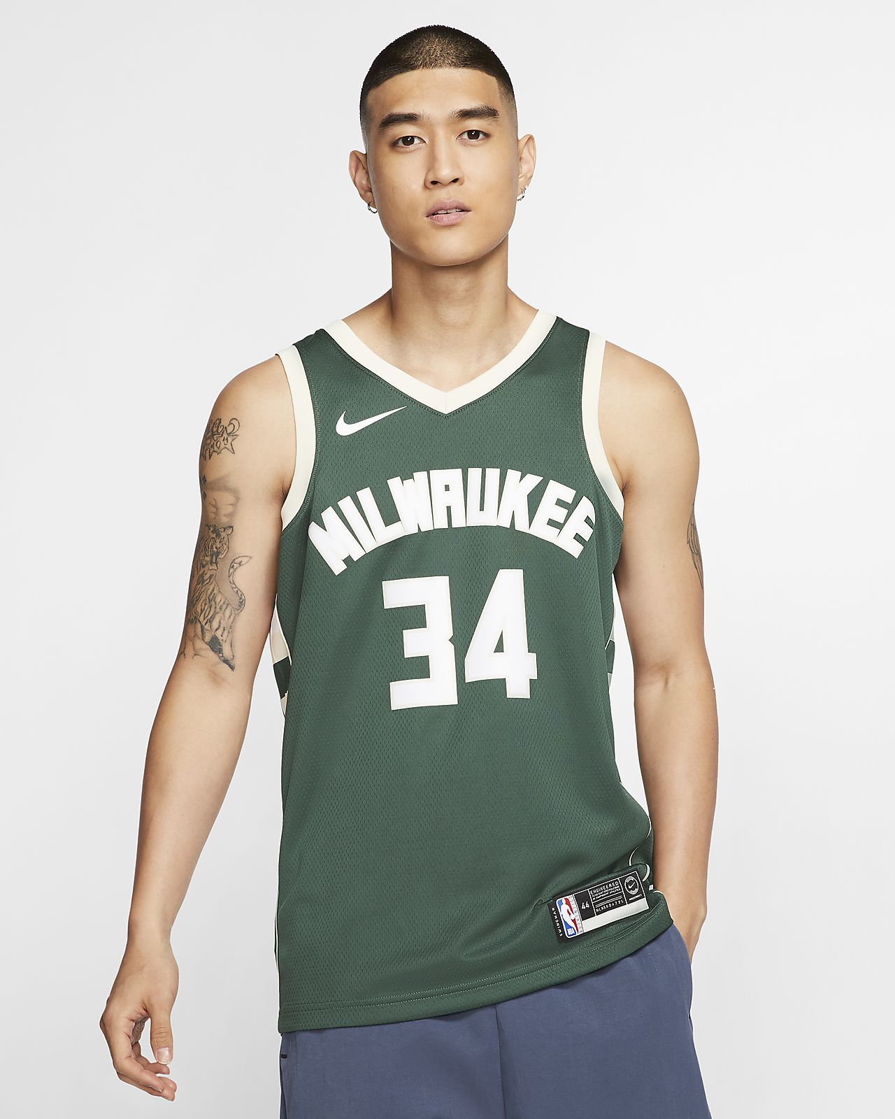 Giannis Antetokounmpo Icon Edition Swingman (Milwaukee Bucks)-Nike NBA Connected-trøje til mænd