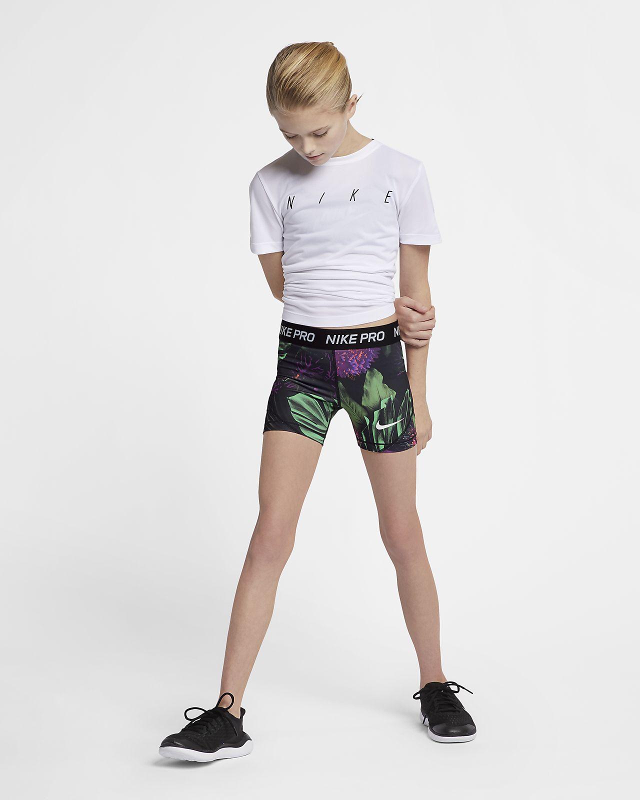 9a4ec9b75c Nike Pro Big Kids  (Girls ) Printed Floral Boyshorts. Nike.com