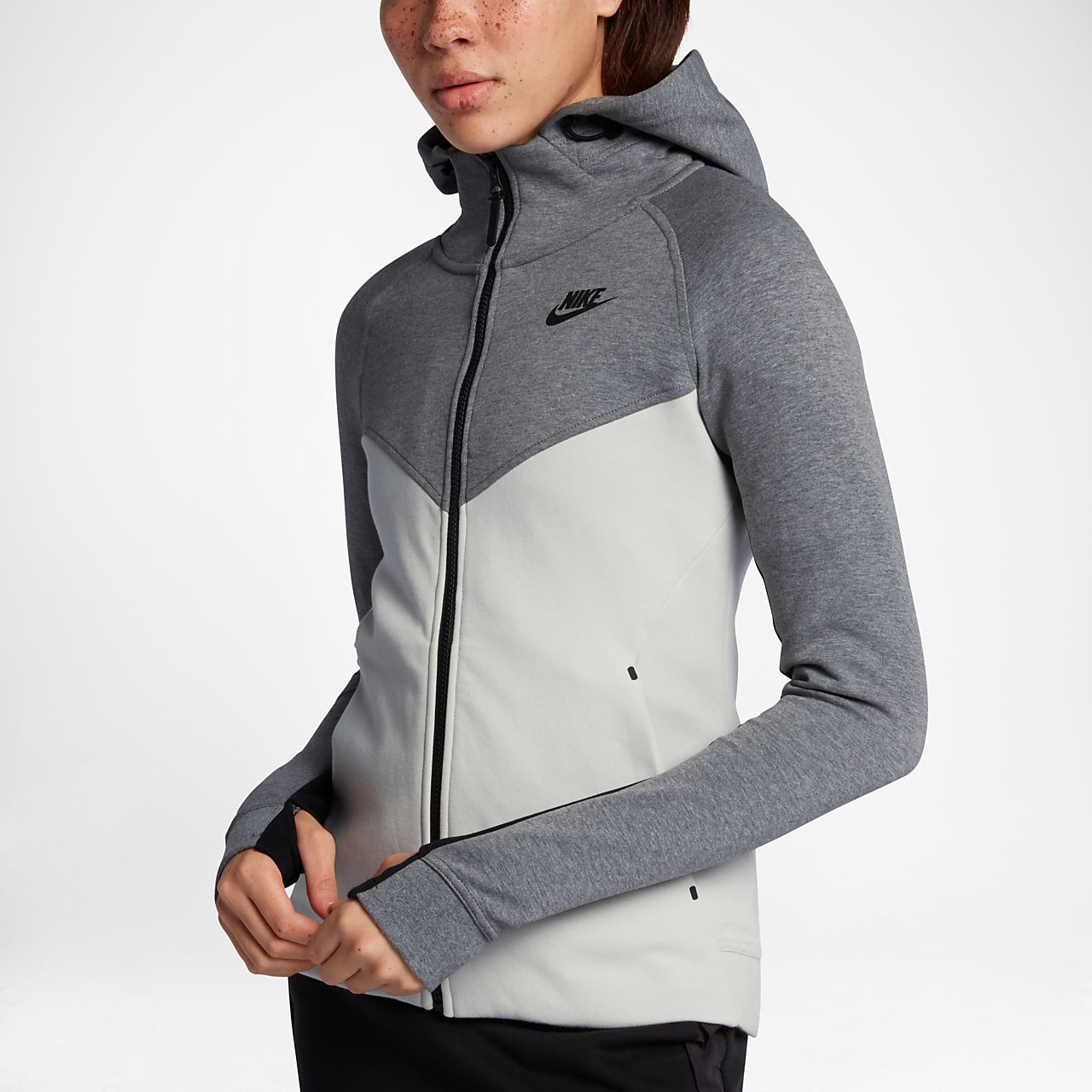nike sportswear tech fleece windrunner women 39 s full zip hoodie. Black Bedroom Furniture Sets. Home Design Ideas