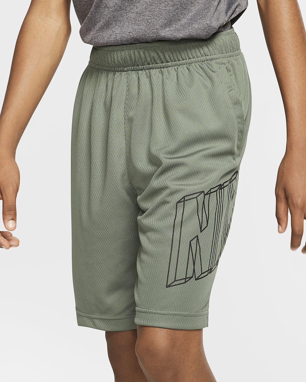 Chlapecké tréninkové kraťasy Nike Dri-FIT s grafickým motivem