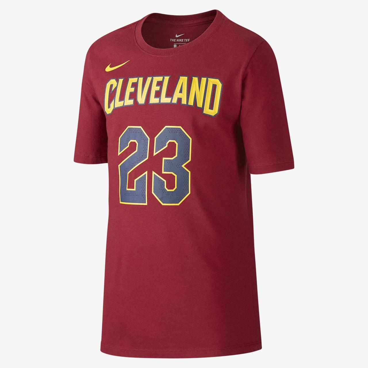 T-shirt do koszykówki dla dużych dzieci (chłopców) Nike Icon NBA Cavaliers (James)