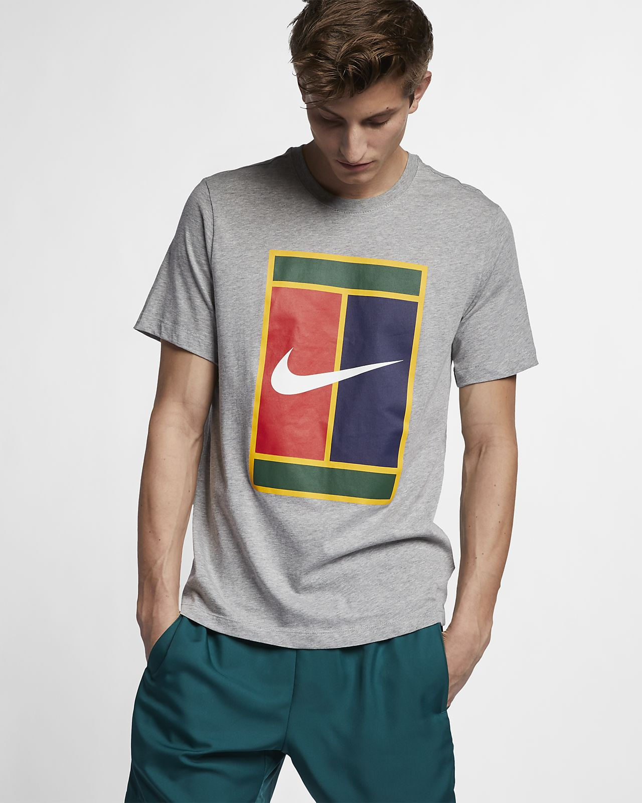 Męski T-shirt do tenisa z logo NikeCourt