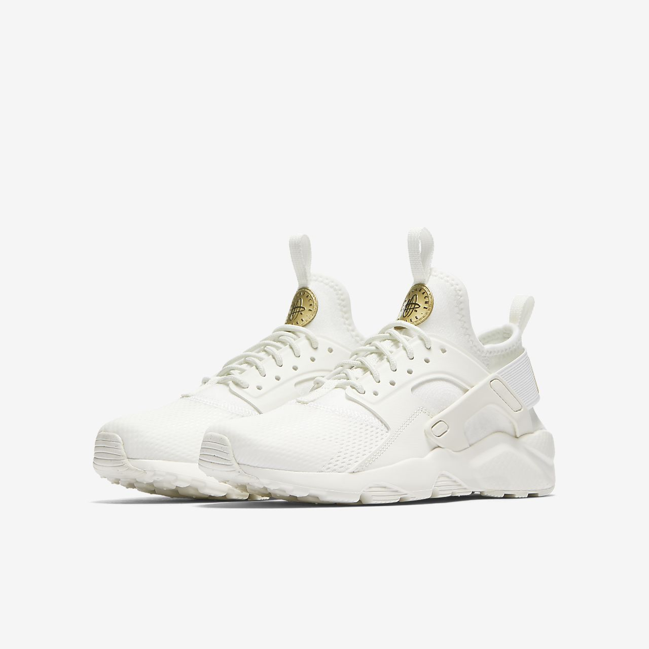 nike huarache ultra white and gold