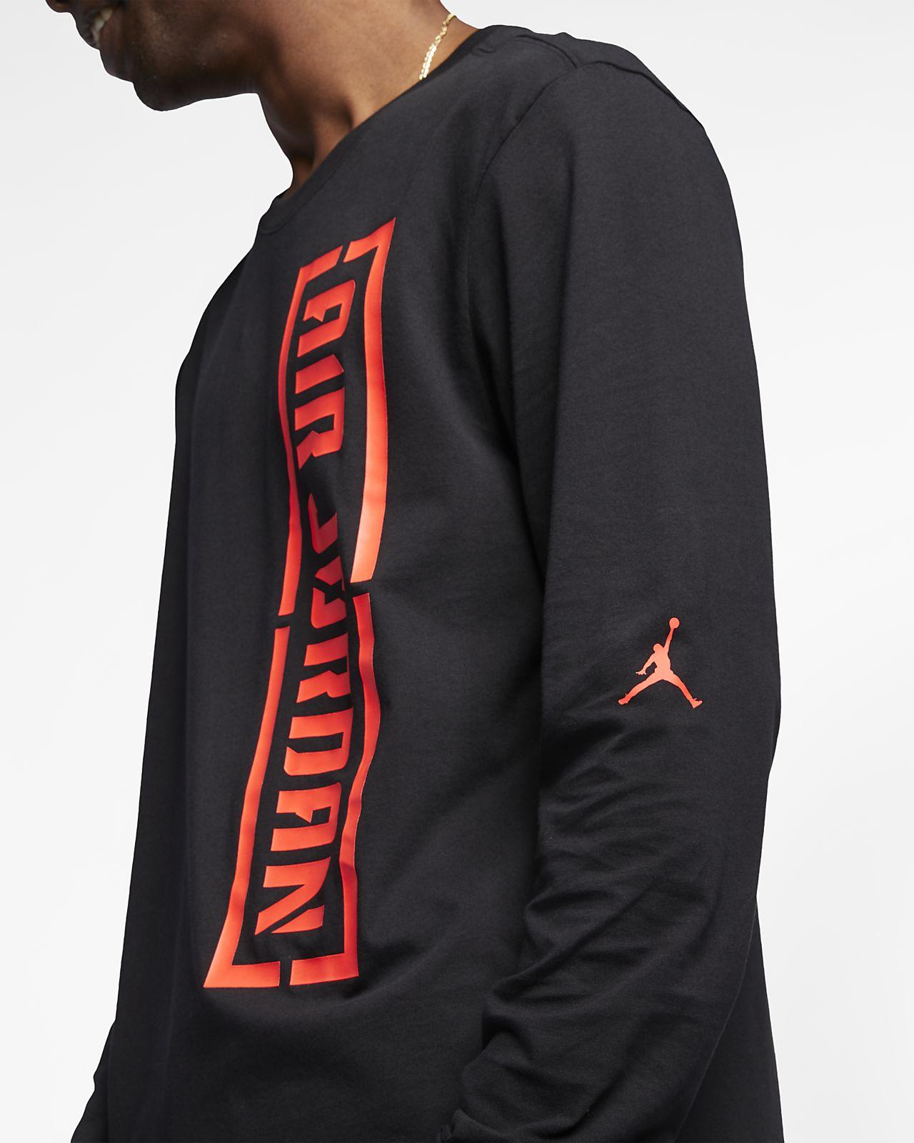 3f0cea9166e068 Jordan Men s Long-Sleeve T-Shirt. Nike.com IN