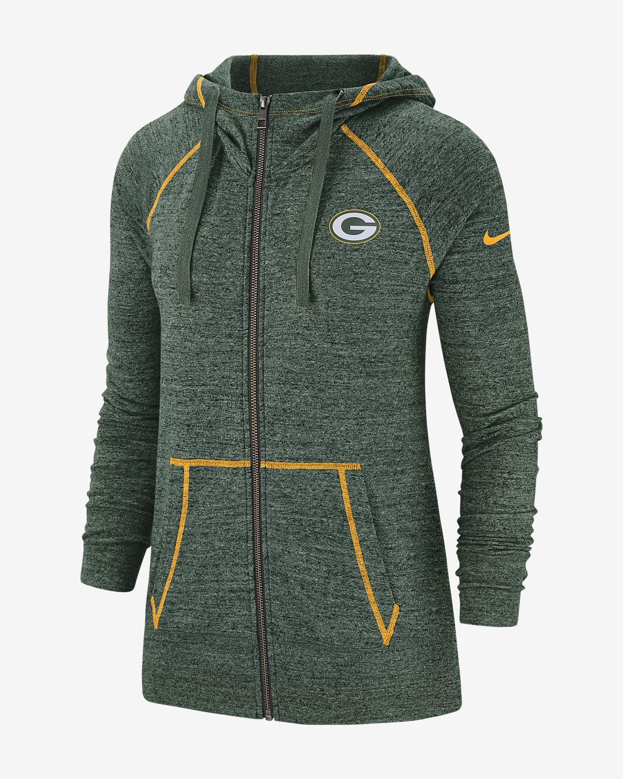 new styles d2556 a7e4b Nike Gym Vintage (NFL Packers) Women's Full-Zip Hoodie