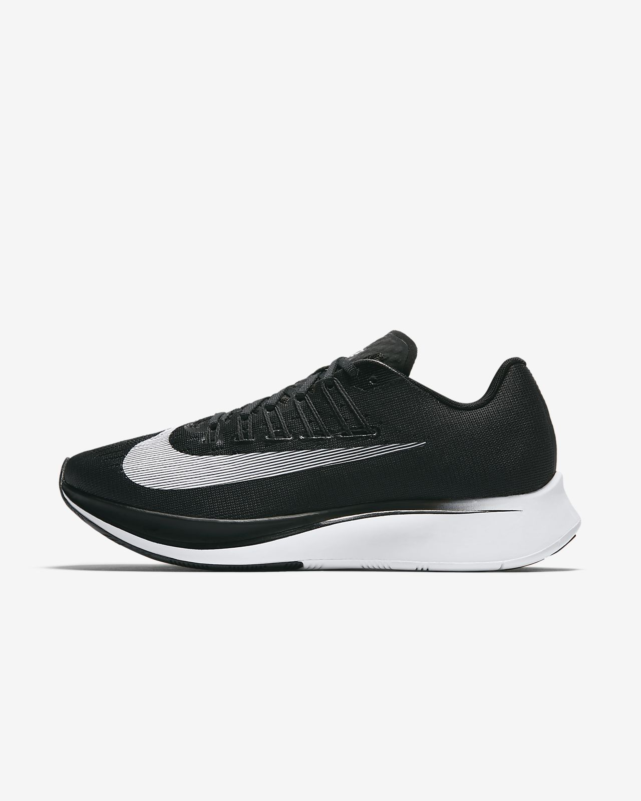 Nike Zoom Fly Womens Running Shoes 8 Black White 897821 001