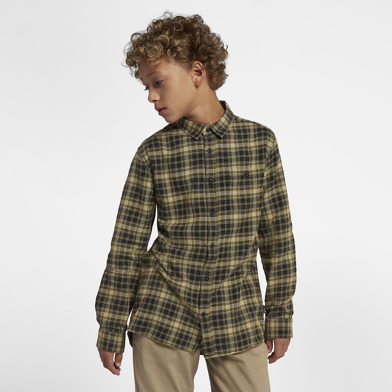 Hurley Ranger Boys' Woven Long-Sleeve Top