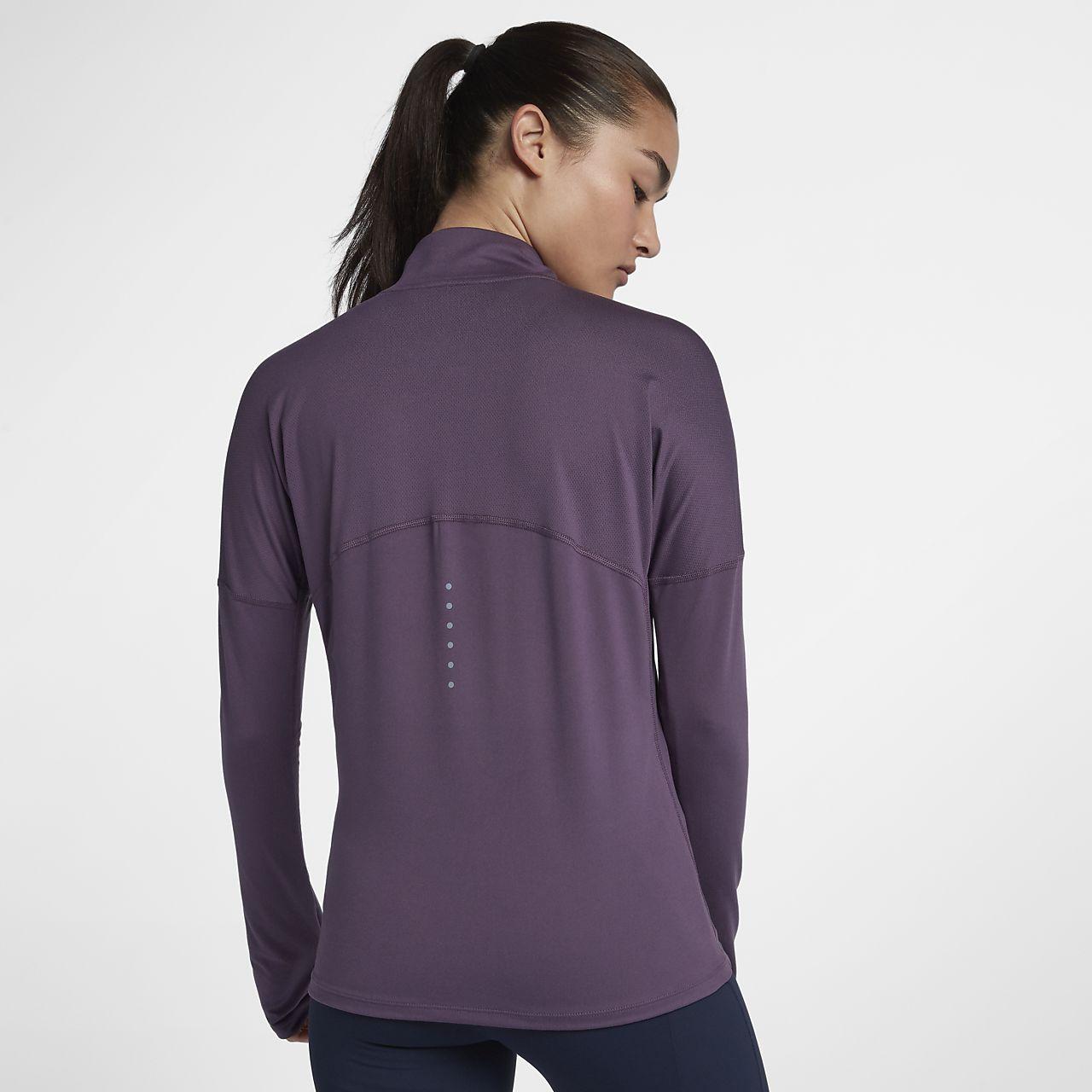 ... Nike Dri-FIT Element Hardlooptop met lange mouwen en halflange rits  voor dames