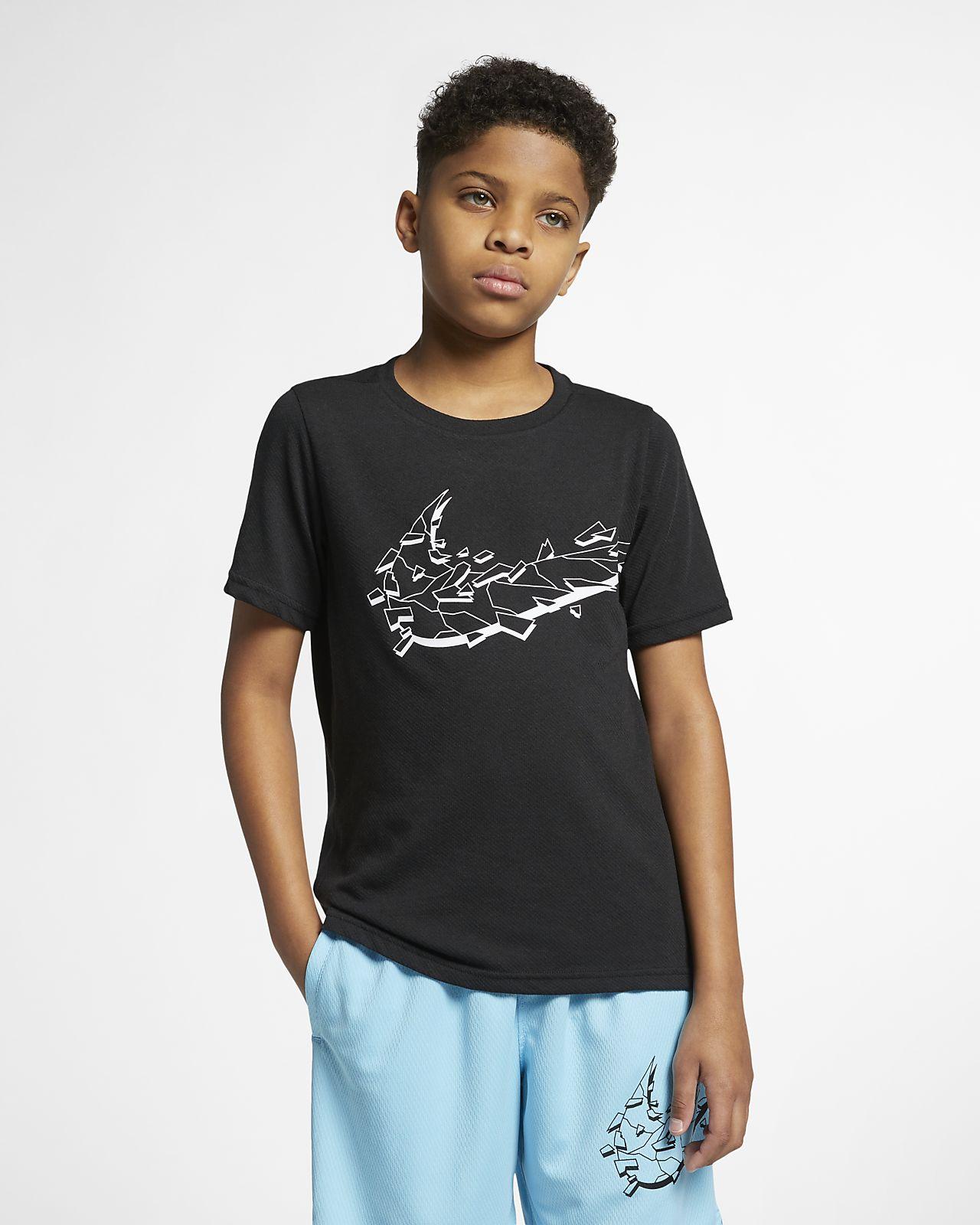 Nike Breathe Big Kids' (Boys') Short-Sleeve Training Top