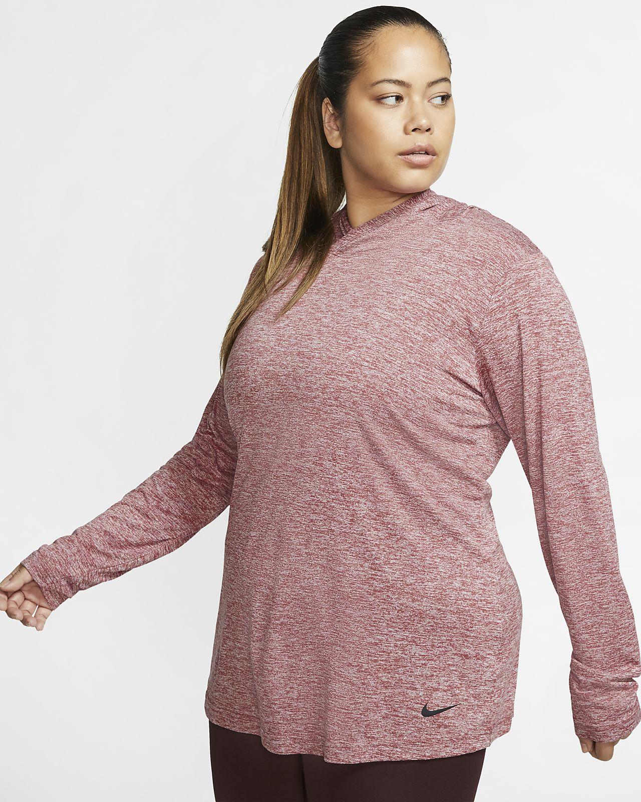 Nike Dri-FIT Legend Women's Long-Sleeve Hooded Training Top (Plus Size)