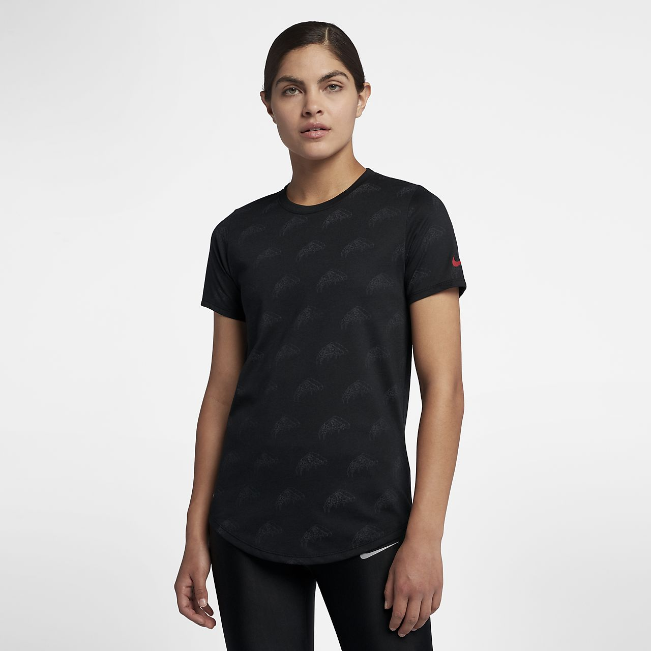 ... Nike Dri-FIT Women's Printed Running T-Shirt