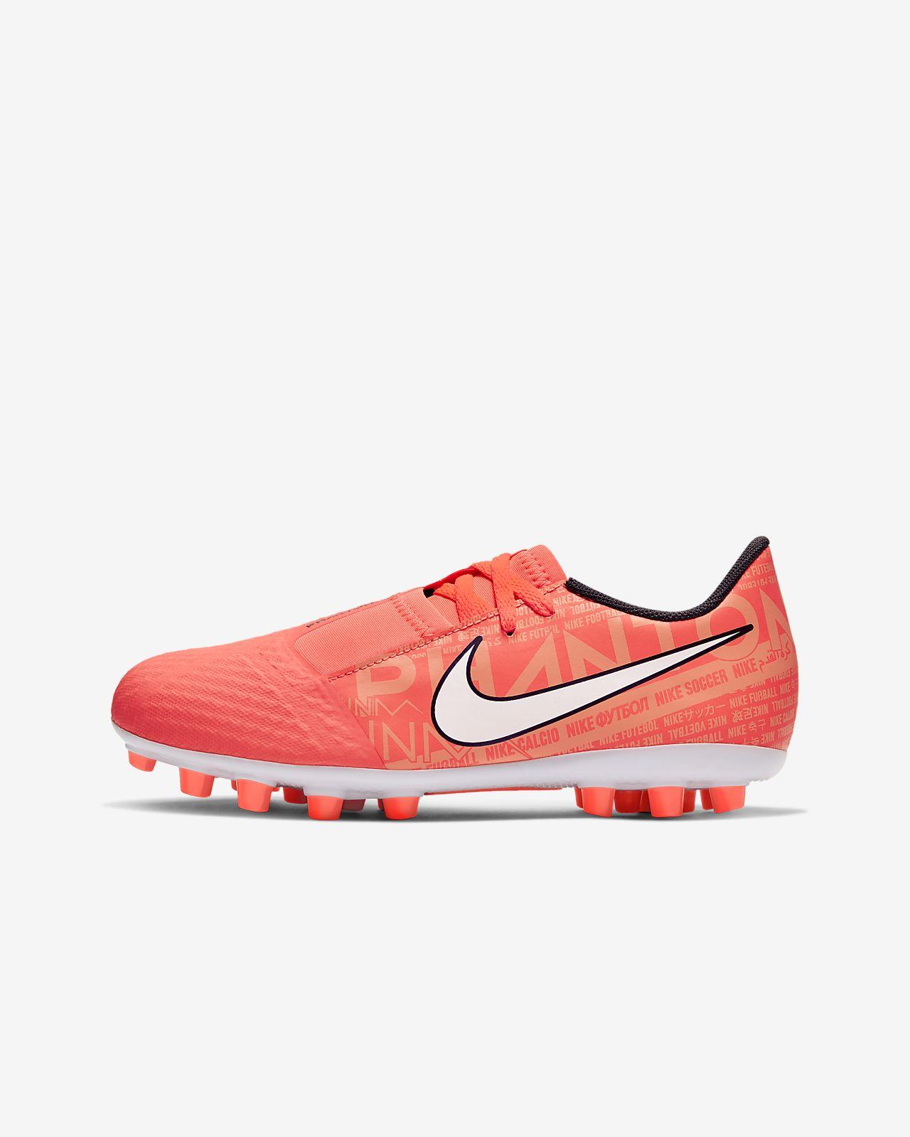 Nike Jr. Phantom Vision Academy AG Botas de fútbol para hierba artificial o moqueta - Turf - Niño/a y niño/a pequeño/a
