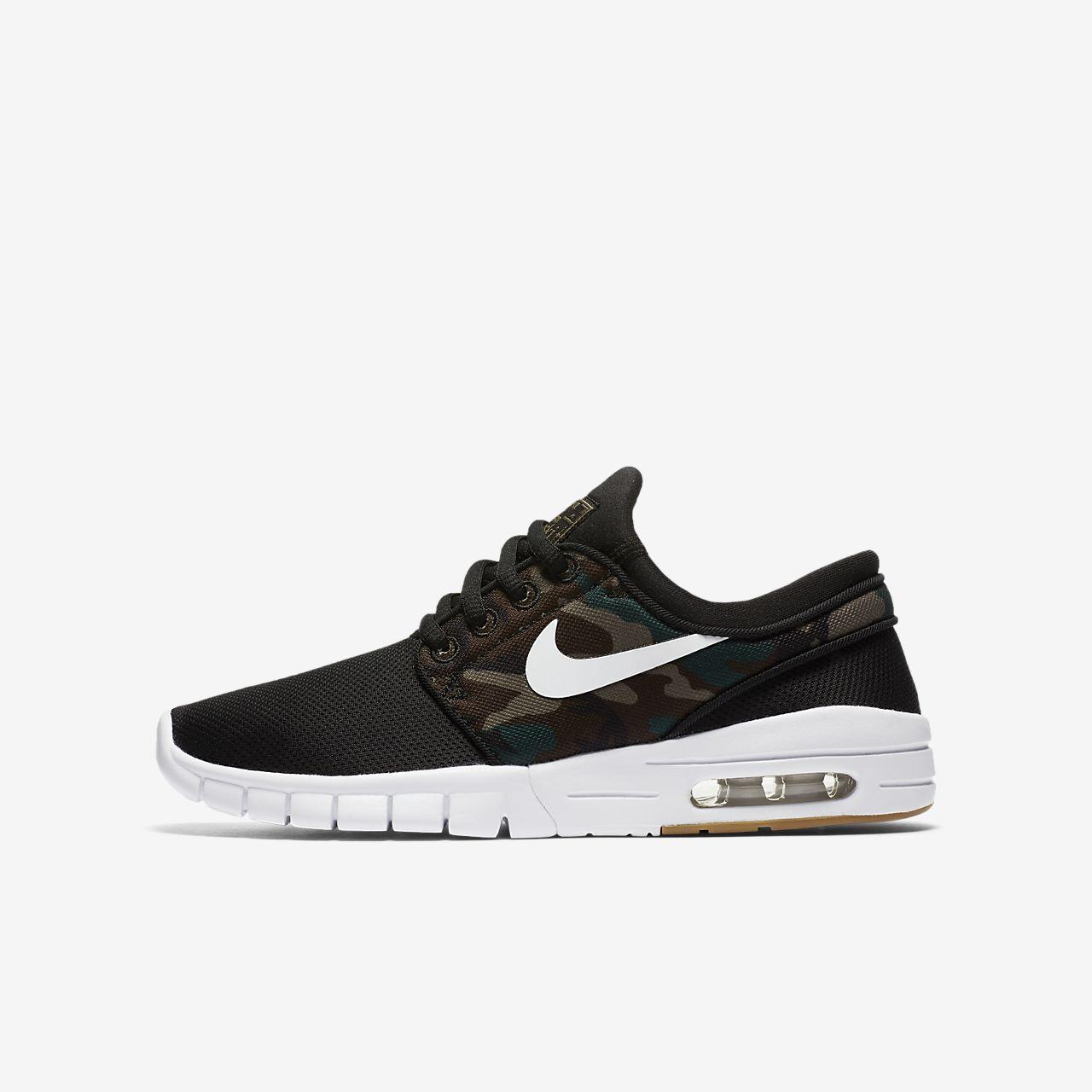 Nike SB STEFAN JANOSKI MAX - Trainers - black/white/medium olive/light brown DlWzMR
